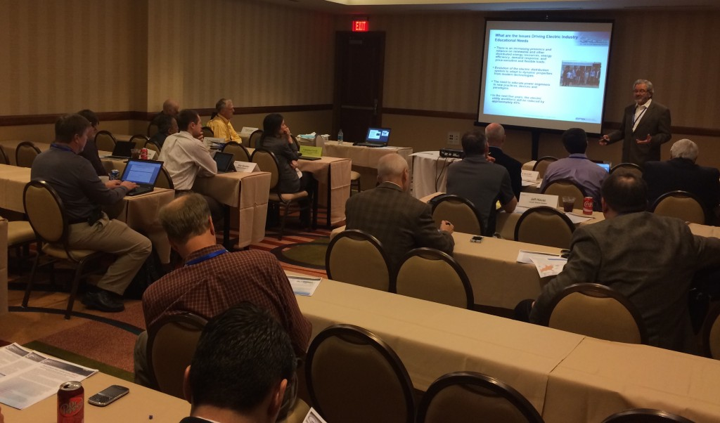 Tom Reddoch, EPRI, talking about issues driving changes in power engineering curriculum