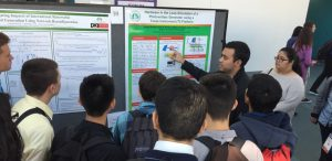 GEARED student talking about his power systems engineering research at DistribuTECH 2017